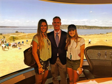 Joe Buck with his daughters Natalie and Trudy