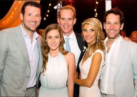 Joe Buck and Michelle Beisner with guests at their marriage