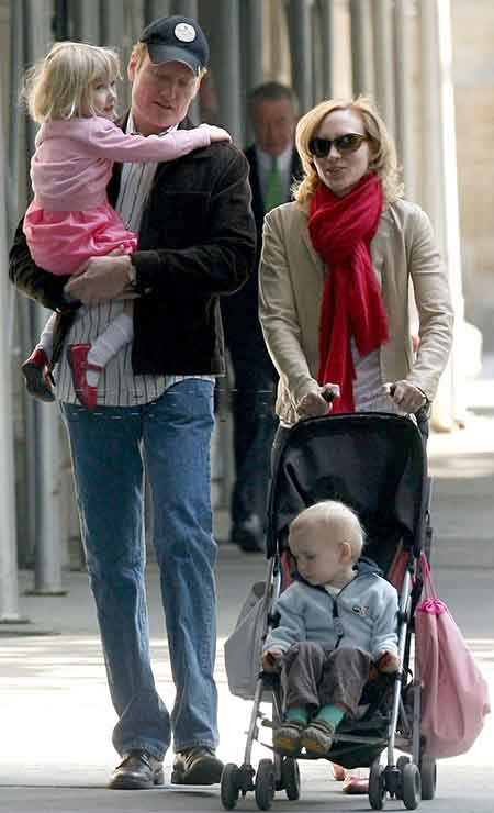Liza Powel O'Brien with her husbad and children