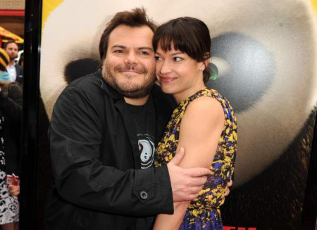 Image: Jack Black with his wife,artist Tanya Hayden