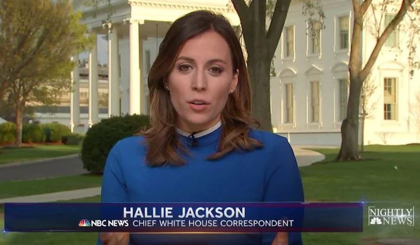 Image: Hallie Jackson while reporting for NBC NEWS