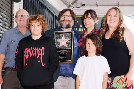 Image: Jack Black Family, sons, wife, sister