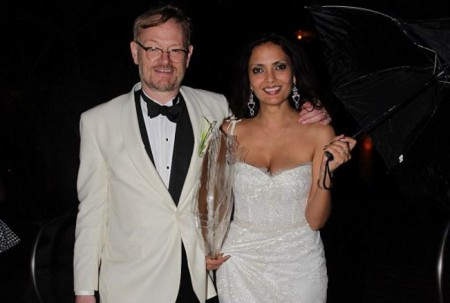 Allegra Riggio and her husband, Jared Harris