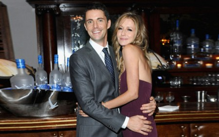 Sophie Dymoke with her spouse, Matthew Goode