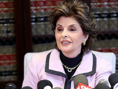 Image: Gloria Allred during interview after solving case