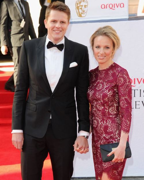 Harriet Humphrey and her husband, Jake Humphrey arrived at the Arqiva British Academy Television Awards at Theatre Royal on 18th May 2014 in London, England.