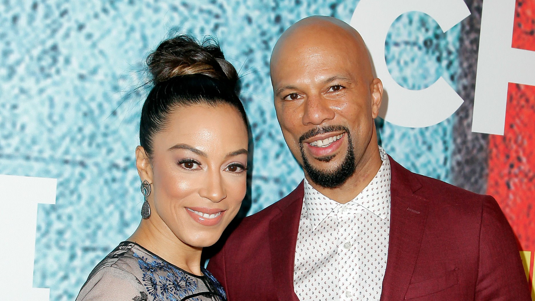 Picture: Angela with her ex-boyfriend, Common