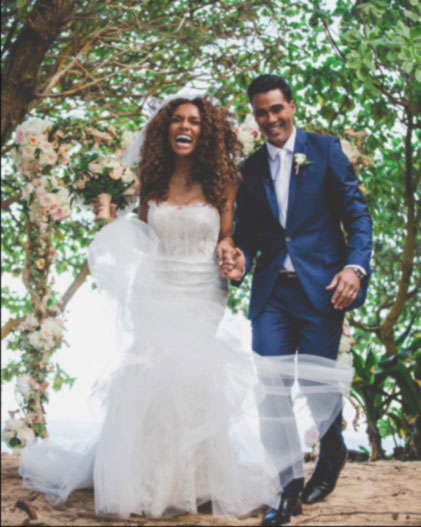 Snap: Janet and Aaron on their weeding day
