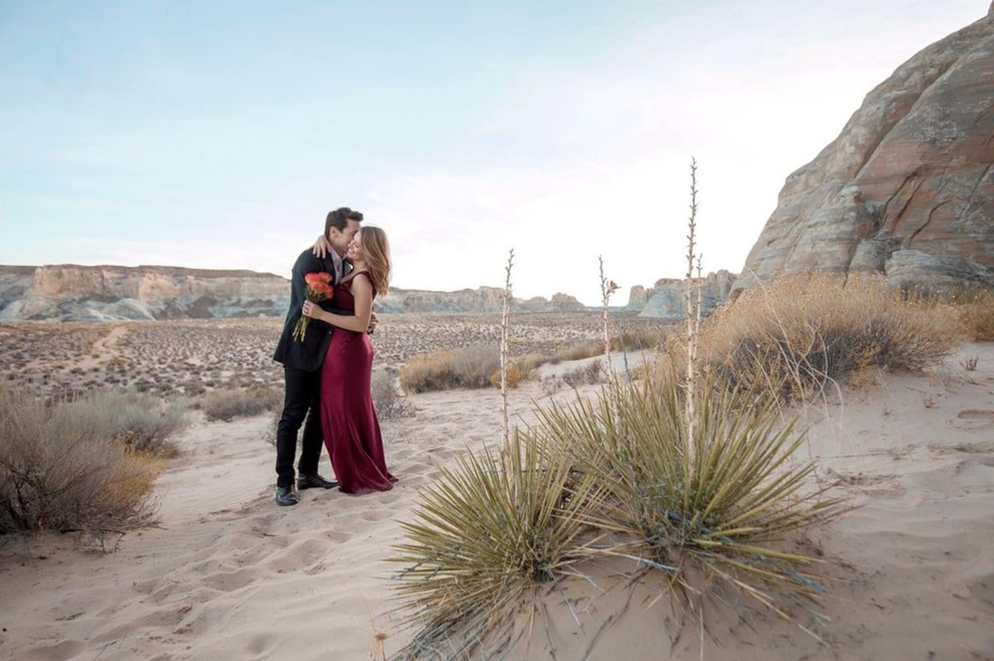 Katy Tur and Tony Dokoupil in Utah at their wedding