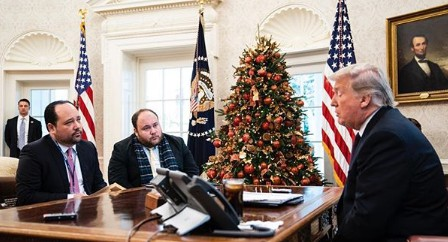 Philip Rucker interviewing American president Donald Trump