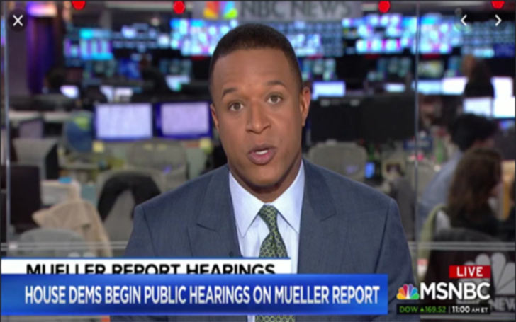 Image: Craig Melvin as reporter in MSNBC