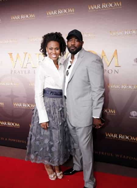Priscilla with her husband Jerry on the red carpet premiere of the movie War Room at the Majestic Theater in Downtown Dallas
