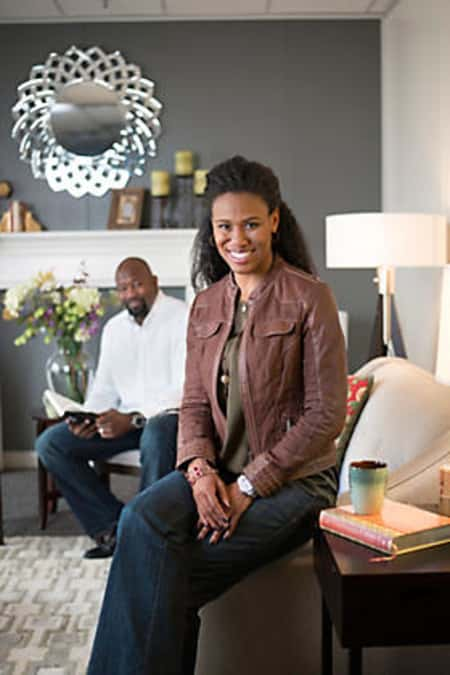 Priscilla Shirer and Jerry Shirer at their home in Dallas