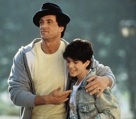 Sylvester Stallone with his late son, Sage Stallone