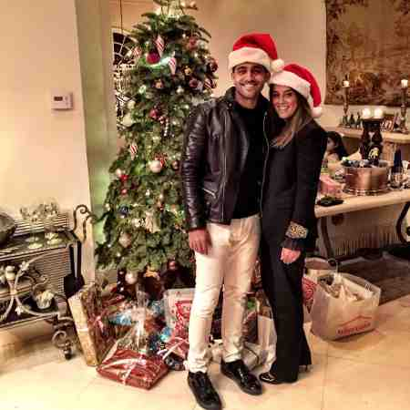 Mourad Zaoui with his wife, Sanaz Khoubnazar at the Christmas Eve
