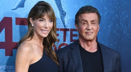 Director, Sylvester Stallone and his third wife, Jennifer Flavin on the stage