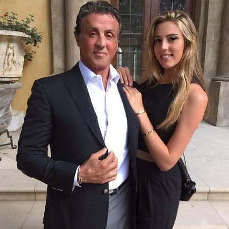 Sylvester Stallone's older daughter Sohphia, 23, wished him on the birthday on July 6