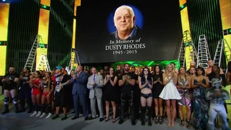 WWE raw roster honouring dusty after his demise