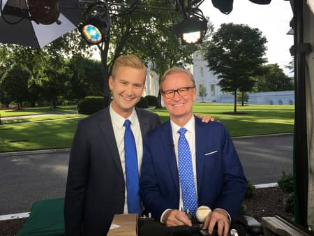 Peter Doocy and his father, Steve Doocy works at same TV channel, Fox News