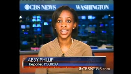 abby on CBSNEWS reporting on the daily news