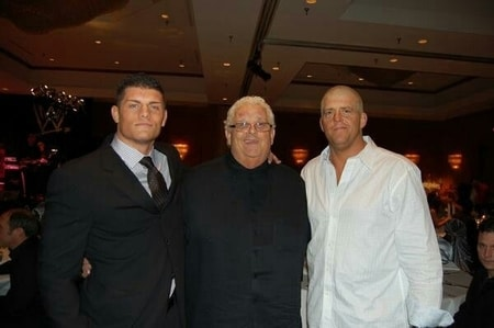 Dusty Rhodes with both of his sons Dustin Patrick and Cody Rhodes