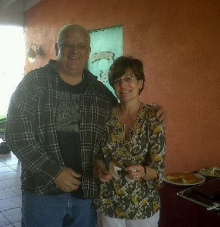 Michelle and her former husband Dusty Rhodes