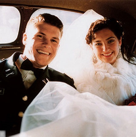 Pete and his first wife Meredith on their wedding day