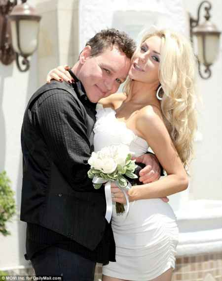 Courtney Stodden and Doug Hutchison during their wedding ceremony