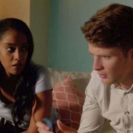 Azie and Brett on-screen couple in the show Jane the Virgin