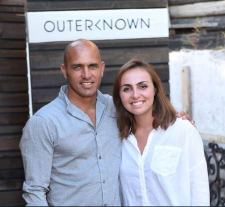 Kelly Slater and his daughter, Taylor Slater at the celebration of the Launch of Outerknown at Private Residence in Malibu, California on 29th August 2015. How old is Kelly Slater's daughter?