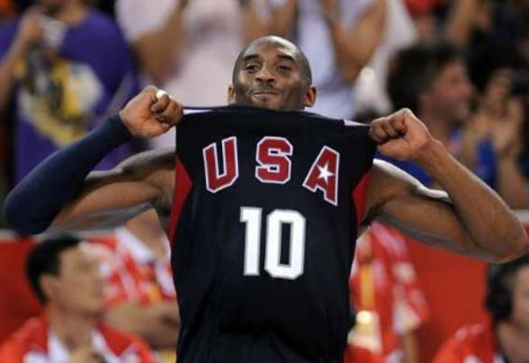 Kobe Bryant in USA jersey