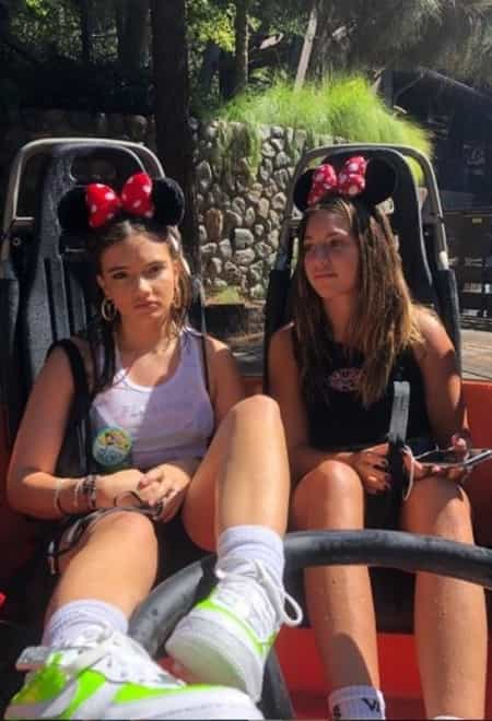 Mackenzie with her friend at the Disneyland