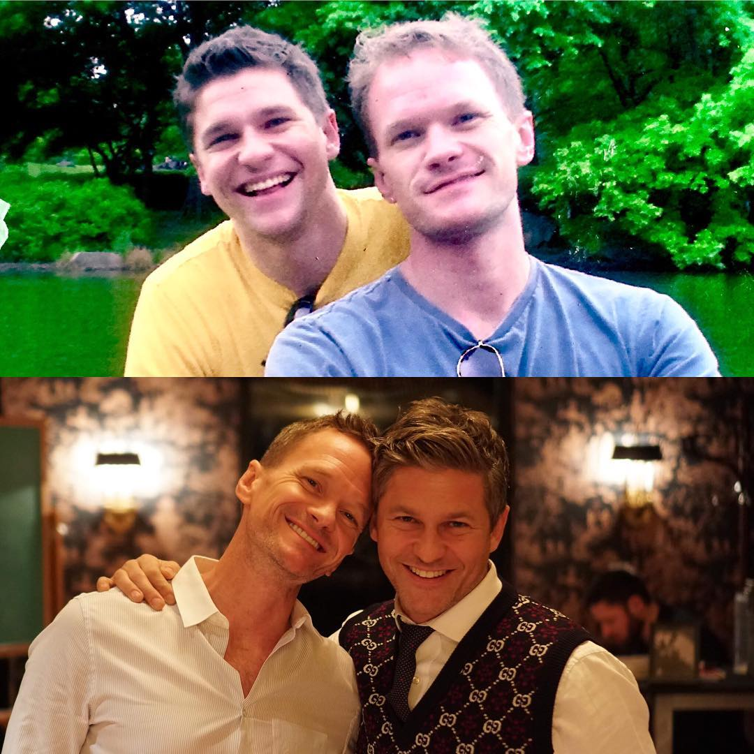 David and Neil 15 years ago and now