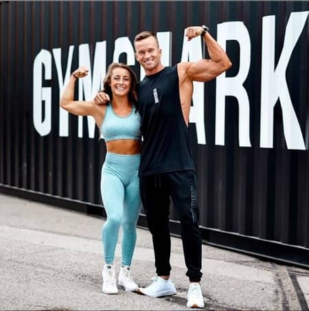 Demi Bagby and her fitness friend Scott Mathison