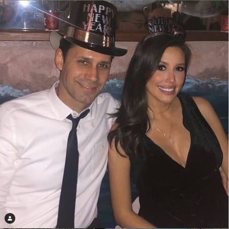 Leslie Lopez with her husband Michael Boos at the New Year's Party