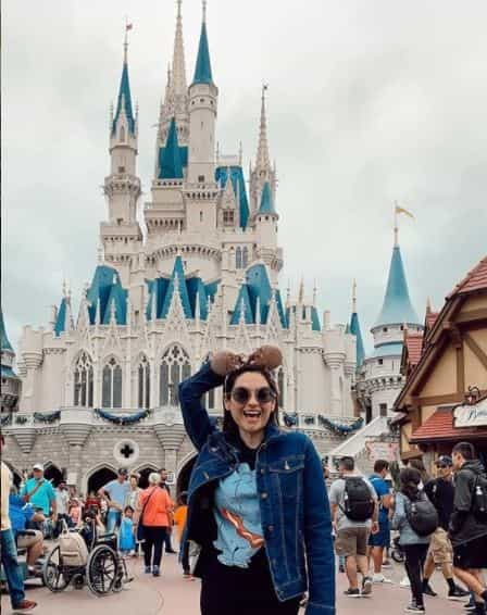 Michelle Galvan enjoying her holiday Disneyland's Magic Kingdom