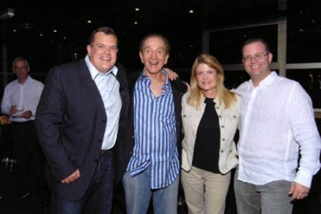 Ted Nicholas with his business partners, including Neil S