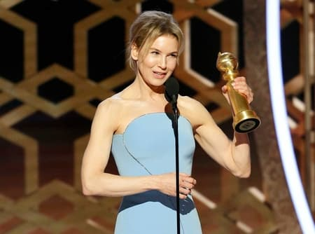 Renee Zellweger won the 77th Golden Globe Award of best performance by an actress in a motion picture for the movie Judy.