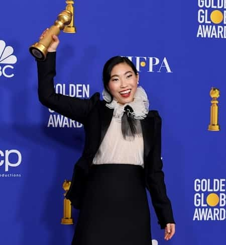 Awkwafina welcomed 2020 with the Golden Globe Award for the Best Performance by an actress in a Motion Picture for the film, The Farewell.