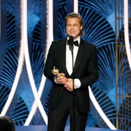The Hollywood heartthrob, Brad Pitt who played alongside the lady's man, Leonardo DiCaprio won the 2020 Golden Globe Award for Best Performance by an Actor in a Supporting Role in any Motion Picture.