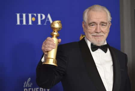Brian Cox wins 2020 Golden Globe Award the Best Performance by an Actor in a Television Series-Drama for the TV series, Succession