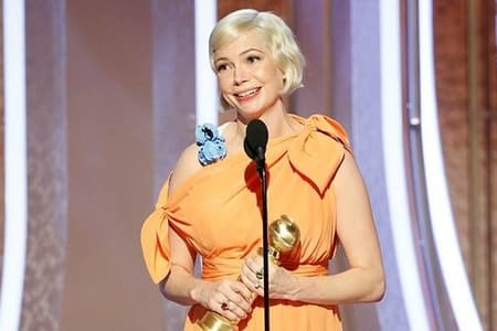 The gorgeous Michelle Williams took away a golden award as Best Performance by an Actress in a Limited Series or a Motion Picture Made for Television for Fosse/Verdon