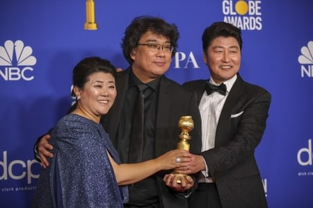 The South Korean film, Parasite directed by Bong Joon Ho claimed the foreign language film award.