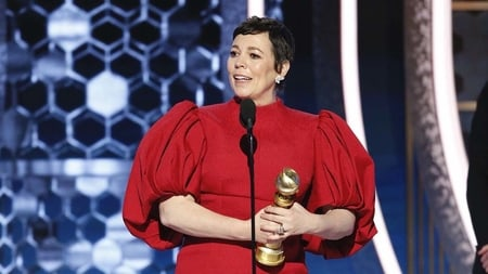 The title for Best Performance by an Actress in a Television Series-Drama was received by Olivia Colman for the historical drama, The Crown
