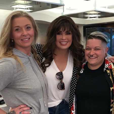 Marie Osmond with her daughter, Jessica and her spouse, Sara