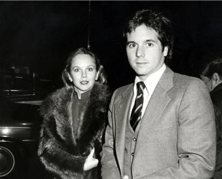 Desi Arnaz Jr. with his first wife, Linda Purl at the Henry Fonda Party