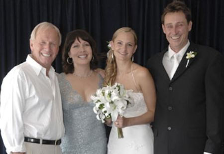 Noelene Edward and her former husband, Paul Hogan attended their older son, Scott's marriage with Saran