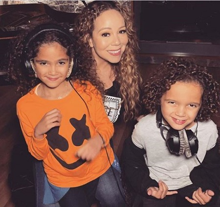 Mariah Carey & Nick Cannon shared twin kids Monroe and Moroccan Scott Cannon.