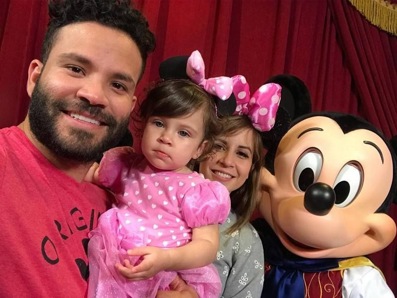 Nina with her husband and a baby daughter, Melanie Altuve.