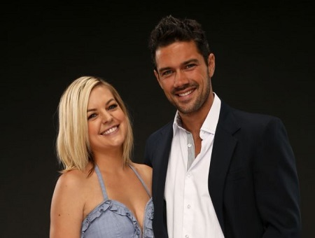 Ryan Paevey with the General Hospital co-actress Kristen Storms.
